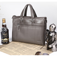 Guangzhou Bags Factory Brown Real Leather Business Men 14 inches Laptop Set Leather bags