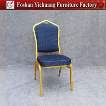 Gold frame blue fabric Modern Steel Dining Chair YC-ZG10-11