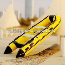 inflatable boat ,fishing boat,motor boat with Aluminum floor--ALIB420