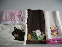 touch plush soft warm printed baby blanket