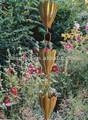 Runde faltenfilter( Tulpe Blume) tasse stil kupfer regen kette