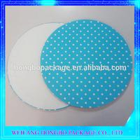 New Custom Round MDF Cake Board