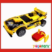 DIY RC Racing Car Building Blocks Racing Car Model,4 Channels Infrared RC Building Blocks Car,Educational Toys RC Car