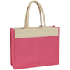 jute tote bag with padded cotton handles