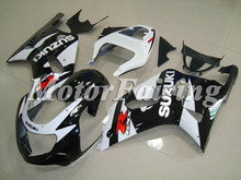 fairing kit for gsxr600 suzuki K1 2000 2001 2002 2003 gsxr 600 body kit gsxr750 fairing kit 00-03 black white gsxr750 bodykit