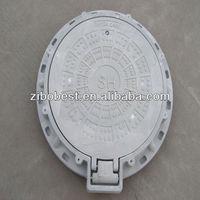 SMC EN124 D400 600mm composite manhole cover with lock hinges