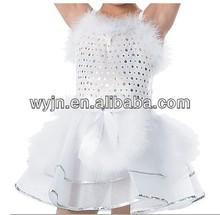 2014 white feather angel dance wear tutu dress costume girls --girls puffy dress sexy costume--flamenco dance dresses