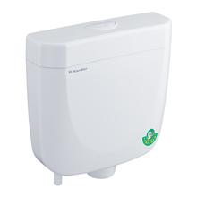 Wall hung toilet flush tank water saving