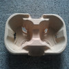 Disposable 2cells paper moulded pulp coffee tray cup carrier