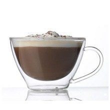 double walled glass for coffee,cappuccino,milk tea