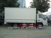 High quality Foton cargo truck box body, 4x2 mini van cargo truck