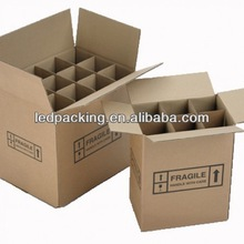 Eco-friendly Wine Glass Corrugated Carton Box packaging
