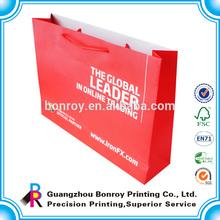 Custom printing full color paper packaging bag wholesale