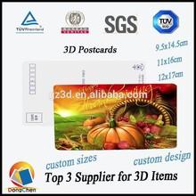 lenticular 3d postcard wholesale 3d printing postcard/new design 3d postcards