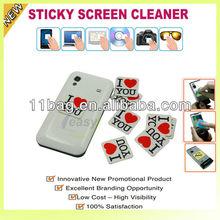 microfiber sticker cellphone screen cleaner