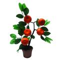 frutas de plástico laranja bonsai para mostrar