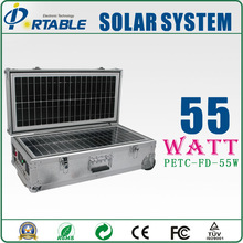 55w high efficiency home solar system/ MPPT controller 55w Portable solar power system /off grid solar energy resource system