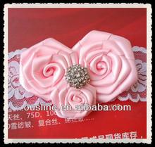 decorative rhinestone cluster ribbon rose flower