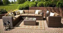 2014 New Design All Weather u shaped sectional sofa modern rattan sofa set
