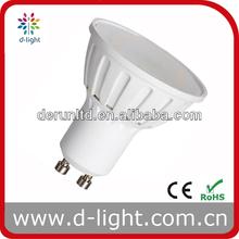 High lumen plastic cup 2W 3W 5W 7W SMD GU10 MR16 220-240V 110-130V ra>80 led spotlight
