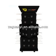 Metal Peg Hook Hanging Display Stand ,each layer rotatable
