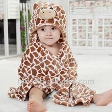 wearable baby blanket with animal hood
