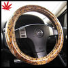light leopard patterned steering wheel cover for most automobile