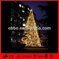 Branco quente 5m/8m/10m/12m/15m/30m grande gigante pvc árvore de natal ao ar livre decorativa da árvore de natal