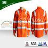 wholesale made in china OEM EN20471 fluorescent orange color hi vis work shirts for industry