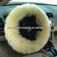 white velvet steering wheel cover for girls