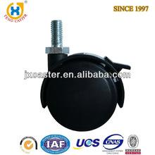 2 inch Dual Wheel brake Nylon Caster , furniture caster wheels