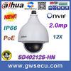 in stock 12x optical zoom 2Mp 1080p full hd Network WEB view dahua mini PoE IP PTZ Camera