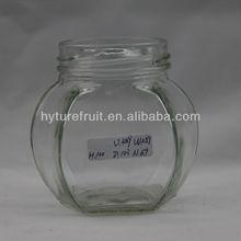370ml glass jars for honey or honey glass bottle HJC-004
