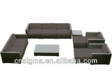 2014 Modern Office Sofa 11 pcs Wicker/Rattan Bedroom Furniture Classic Hotel Poolside Furniture
