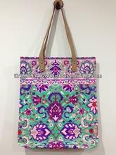 Best selling Thailand Neon Canvas Handmade bag NB16