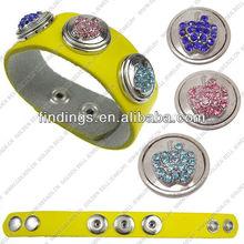 LJ0060 truth leather bracelet,adjustable snap bracelet,snap button press jewelry