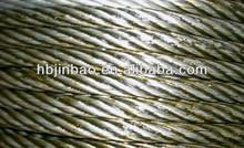 China galvanized steel wire rope 6x24+FC