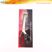 "S14006P LFGB certificated 9"" dress cutting plastic handle tailor sewing scissors"