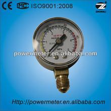 60mm black steel case pressure gauge water meter connection botttom direction