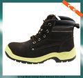Superior de cuero de trabajo de color amarillo de gamuza de cuero zapatos de seguridad de encaje- hasta los zapatos de seguridad de seguridad de arranque