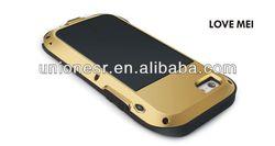 New Arrival Love Mei Aluminum Waterproof Case For iPhone 5C,Phone Case For Iphone 5/5c/5s