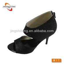Black ankle shoe high heel sandals women