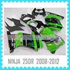 Aftermarket ABS Custom Fairing Body Kit Quality ABS motorcycle Fairing for Kawasaki NINJA 250R 2008 2009 2010 2011 2012