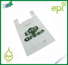 Plain High Density Plastic Carry Out Bag