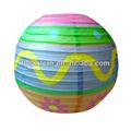 venta caliente chino impreso ronda linterna de papel para la decoración