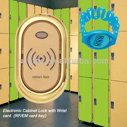 Electronic magnetic swipe card cabinet locks
