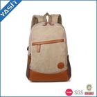 2014 vintage popular backpack bags Khaki canvas backpack for college student