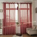 Tela poliéster 100% ventana de cortinas de lino
