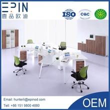 Epin 2014 New Design Elegent Modern Office Workstation for 6 persom