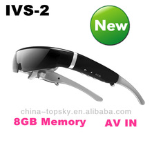 2014 Latest Personal Eyewear Cinema with 8GB Memory, Wifi and AV IN function 3D Video Glasses
